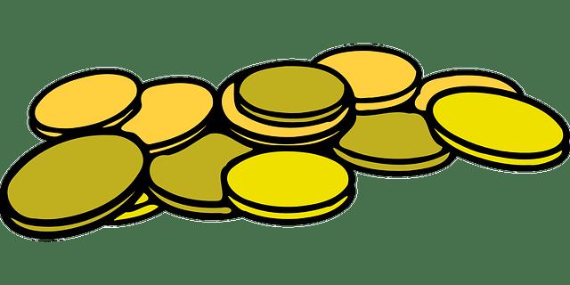 Kostenlose Vektorgrafik Kaution Mnzen Geld Stapel