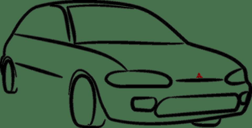 Carro Colt Mitsubishi · Gráfico vetorial grátis no Pixabay