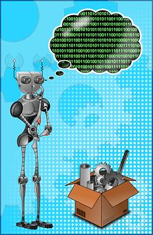 Robot, Binaire, Penseur, Pensée