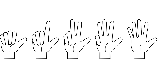 Hand Counting Fingers · Free vector graphic on Pixabay
