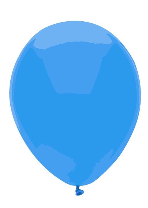free illustration blue balloon