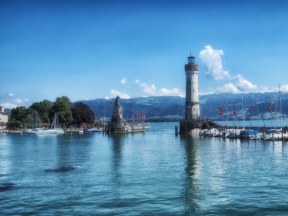Free Photo Lindau Germany Harbor Lighthouse Free Image On Pixabay 176591