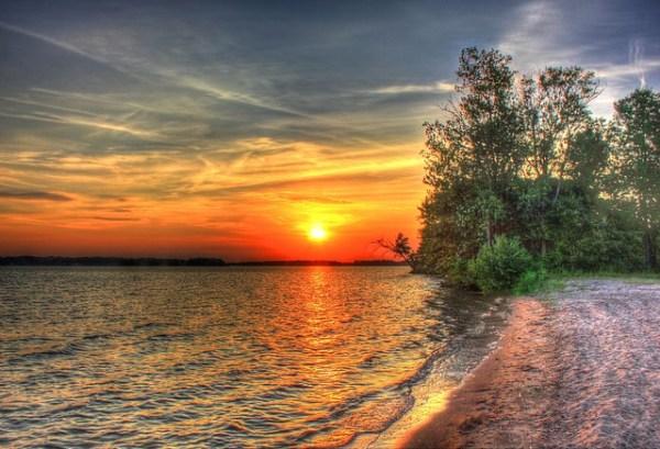 sunset landscape scenery free