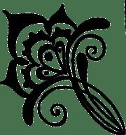 flower henna vines free vector