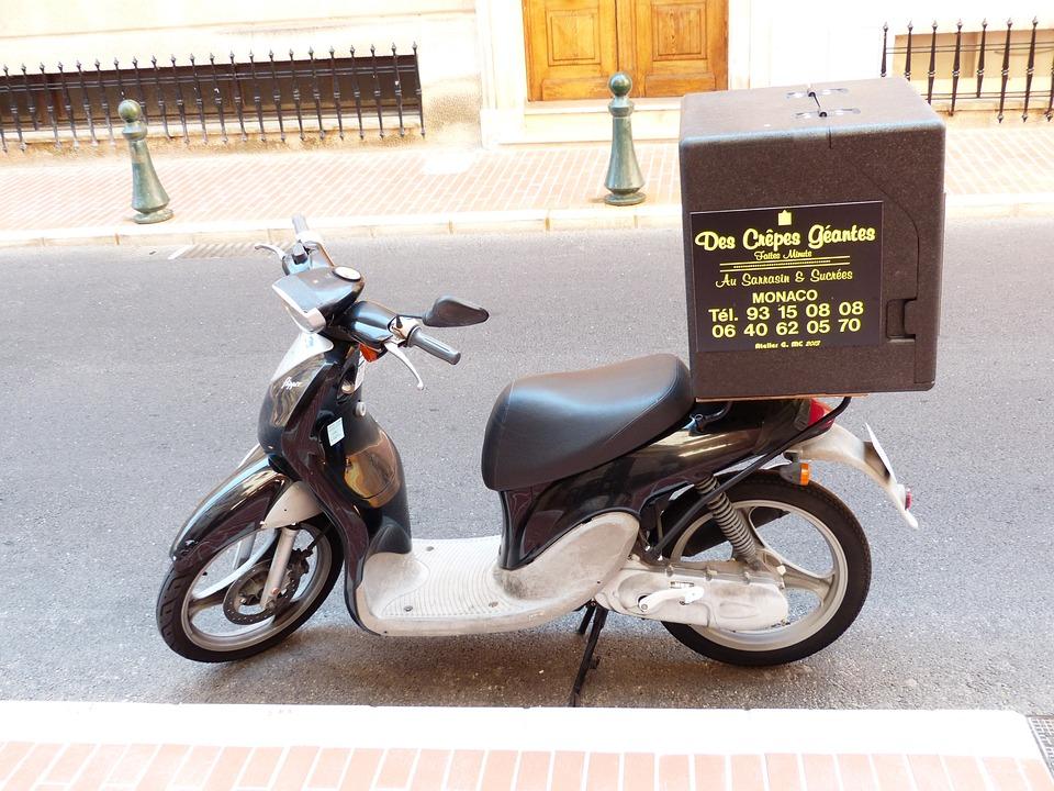 Serviço de pizza, Fornecedor de pizza, Motocicleta, Entrega