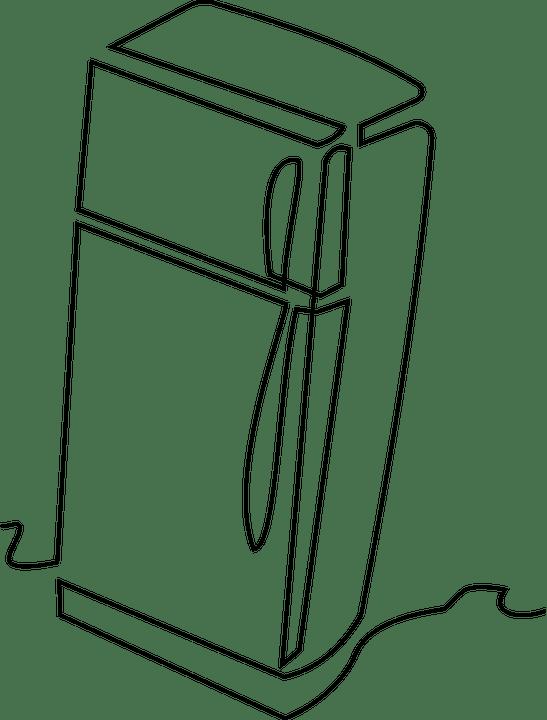 Kostenlose Vektorgrafik: Kühlschrank, Küche, Clipart