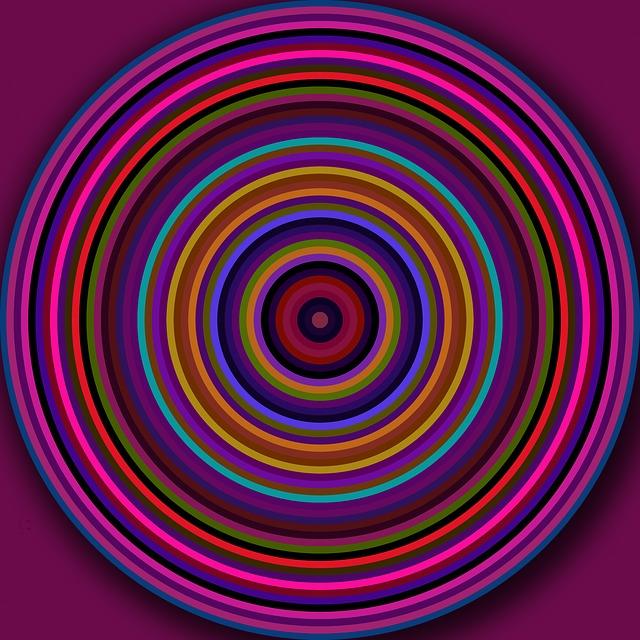 Kostenlose Illustration Kreise Rund Ringe Bunt Muster