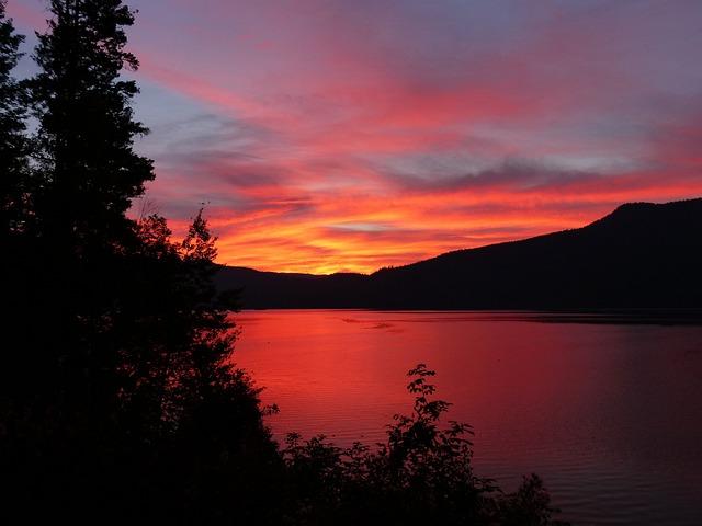 4k Fall Michigan Wallpaper Glowing Sun Rise Canim Lake 183 Free Photo On Pixabay