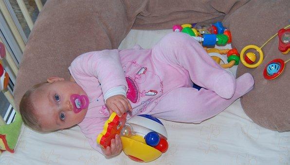 Criança, Brinquedos, Bebê, Menina