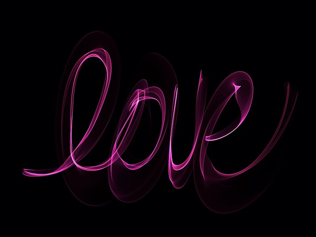 Cute Black Girl Wallpaper Free Illustration Neon Love Glowing Writing Free