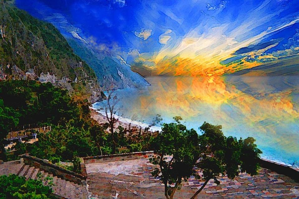 Foto gratis Puesta De Sol Costa  Imagen gratis en