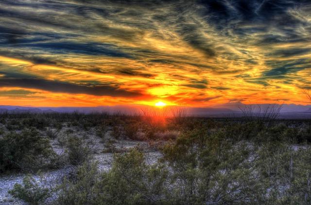Sunset Desert Texas Big  Free photo on Pixabay