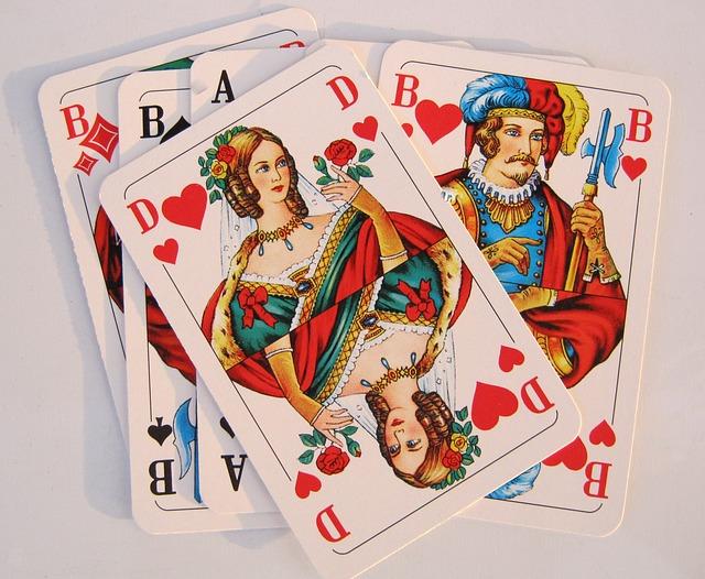 Spielkarten Herz Dame  Kostenloses Foto auf Pixabay