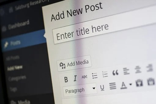 A WordPress editor showing add new post