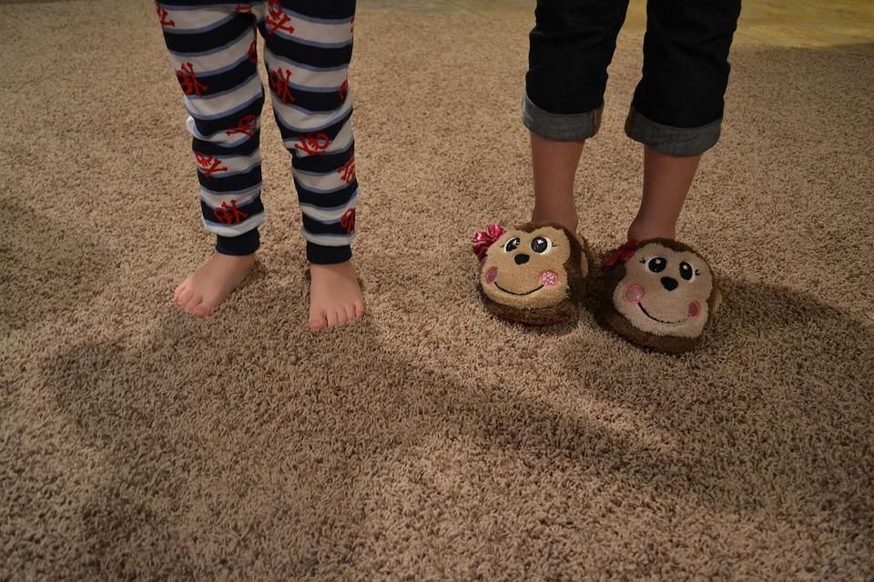 Pieds, Orteils, Pantoufles, Enfants, Pyjamas, Pjs