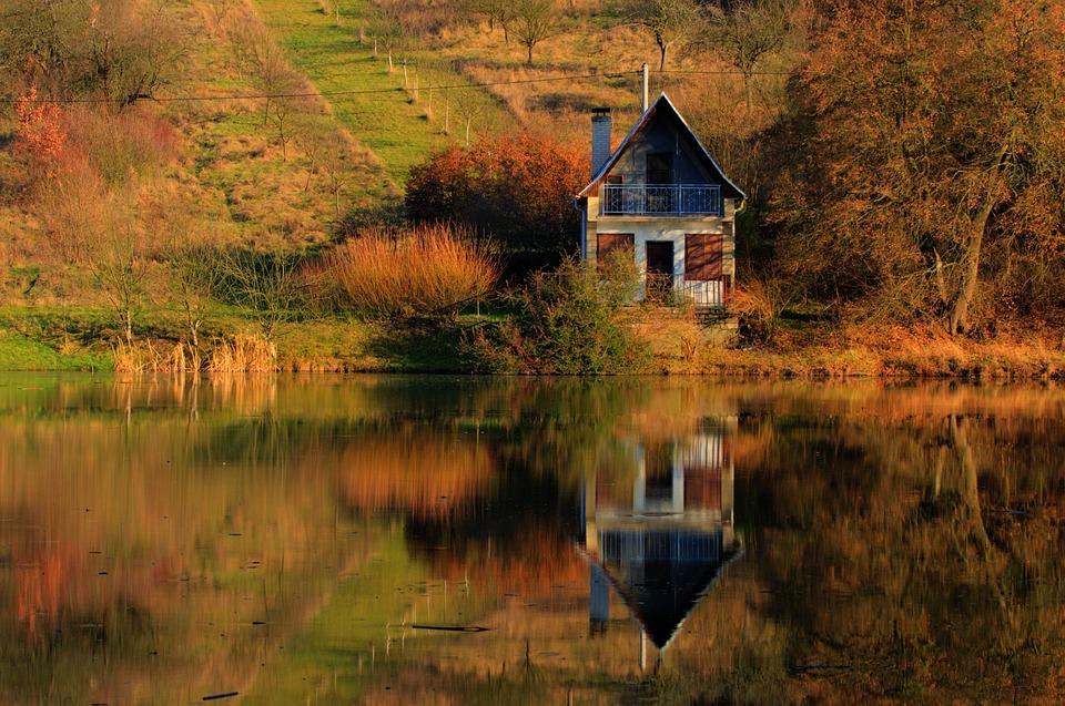Fall Bird Wallpaper Cottage Lake Mirror 183 Free Photo On Pixabay