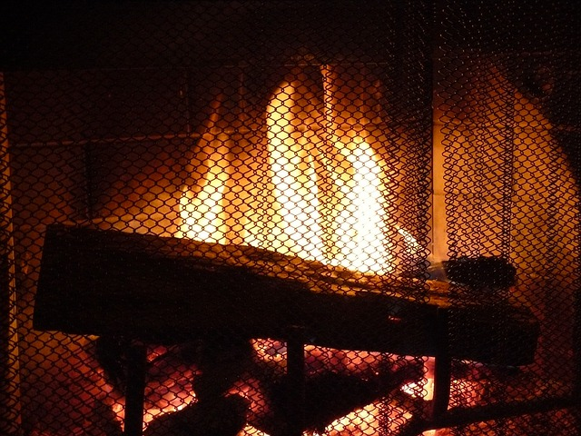 Free photo Fireplace Fire Screen Warm Heat  Free