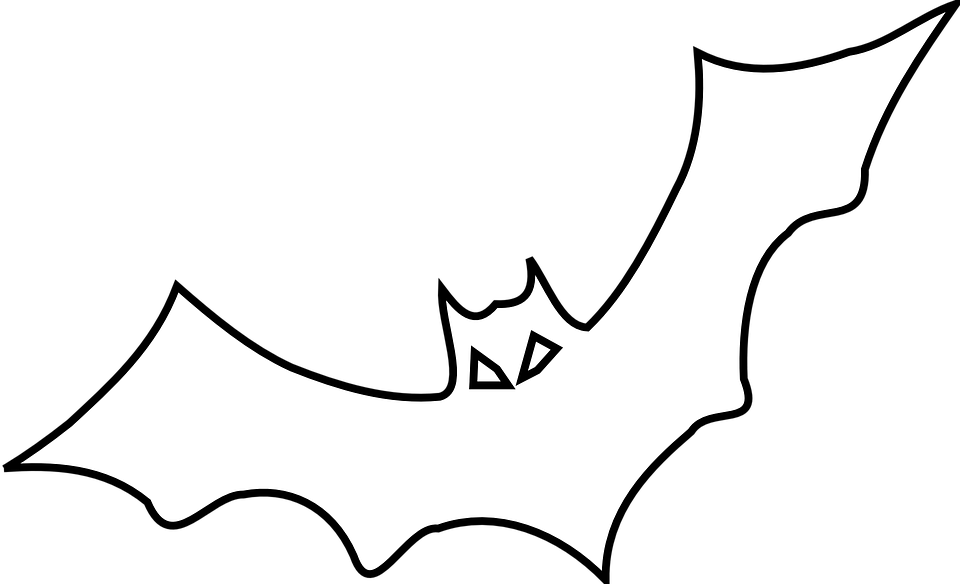 Bat Black Outline · Free vector graphic on Pixabay