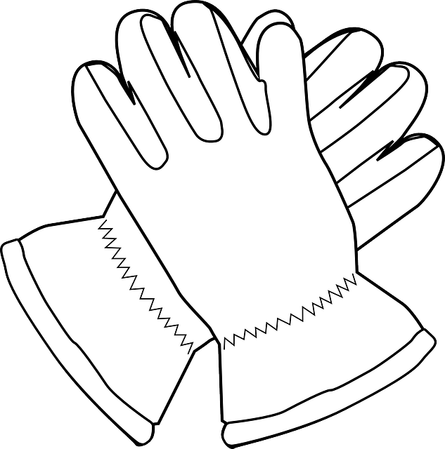 Free vector graphic: Gloves, Mittens, Outline, White