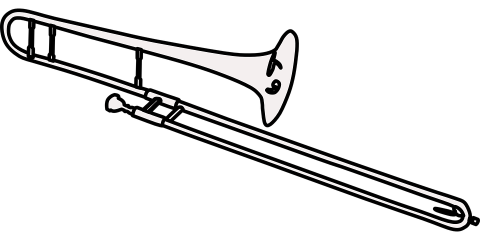 Trombone Brass Musical Instrument · Free vector graphic on