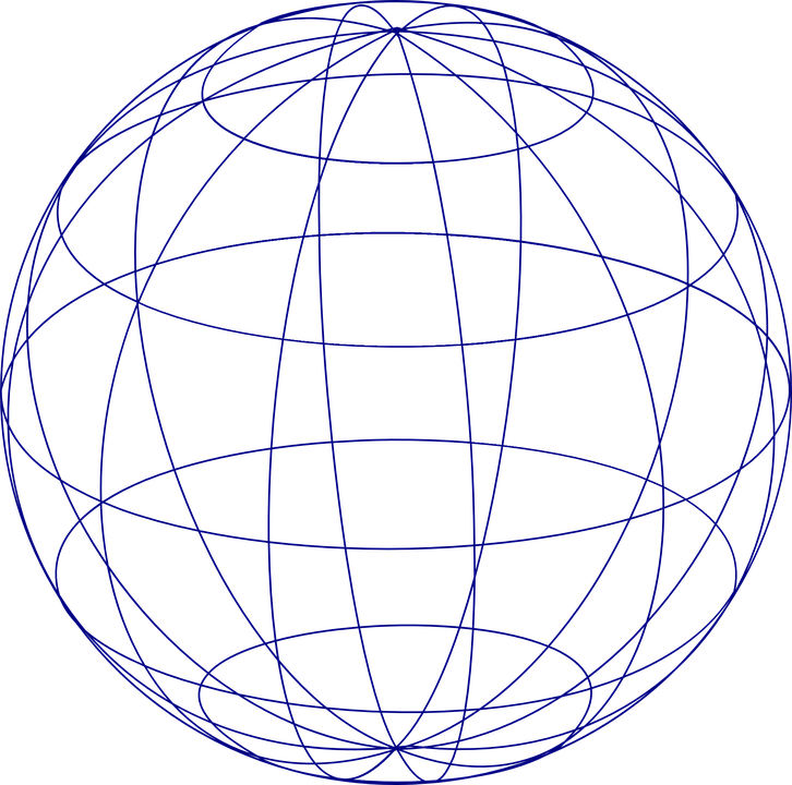 Sphere Globe Grid · Free vector graphic on Pixabay