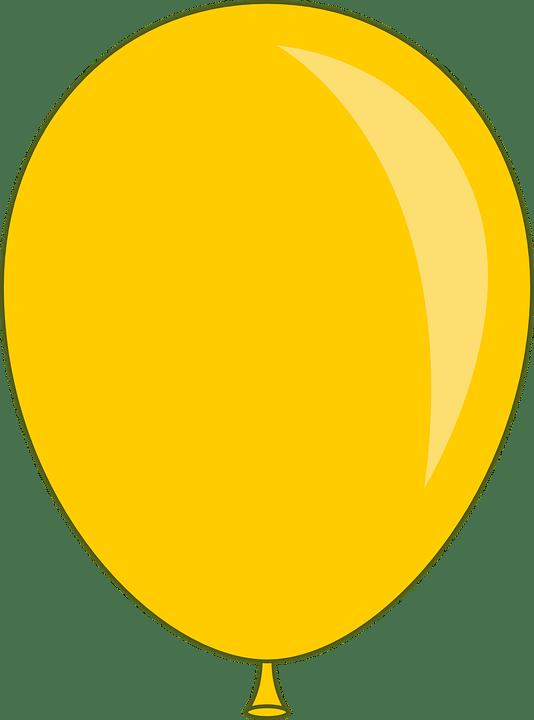 balloon yellow party free vector