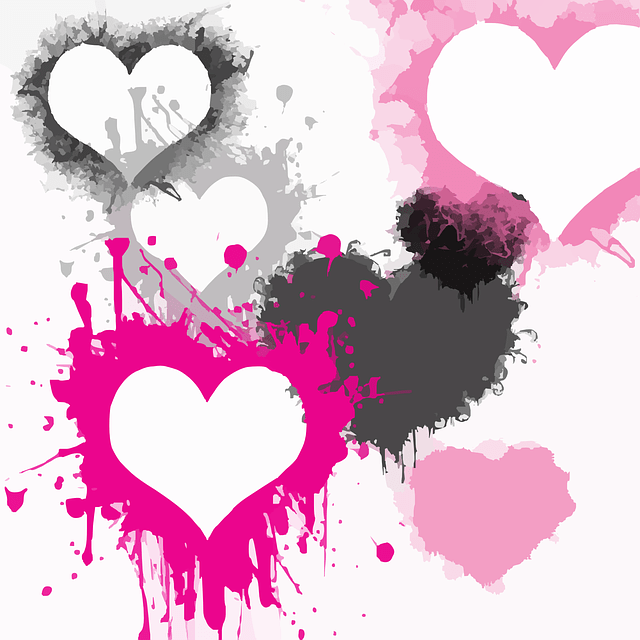 Hearts Splatter Paint  Free vector graphic on Pixabay