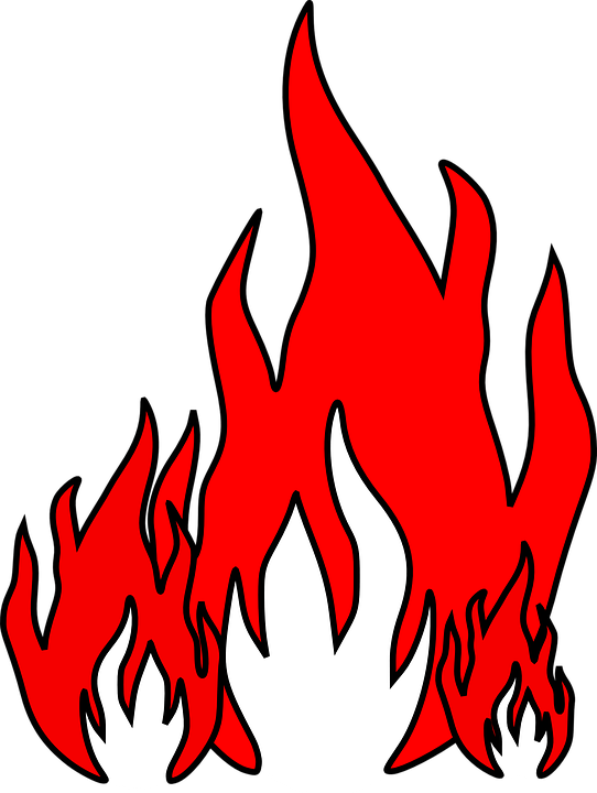 flames red fire free