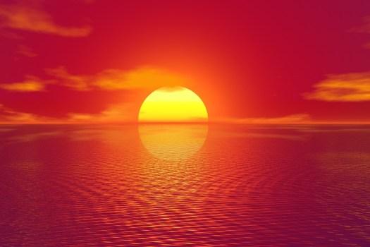 Tramonto, Cielo, Mare, Ocean, Impostazione, Sole