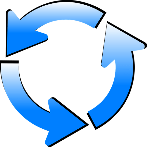 arrow cycle recycling free vector
