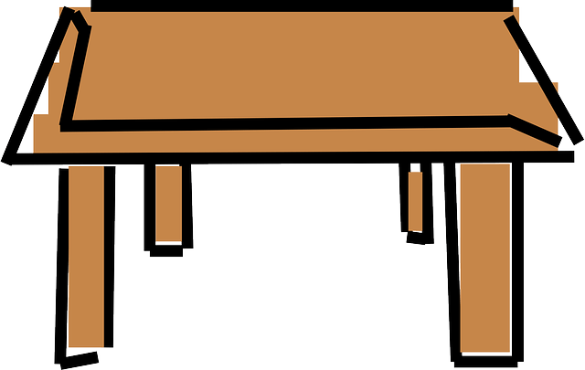 Table Furniture Desk  Free vector graphic on Pixabay