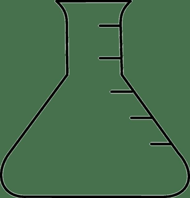 Erlenmeyerkolben Kolben Labor · Kostenlose Vektorgrafik
