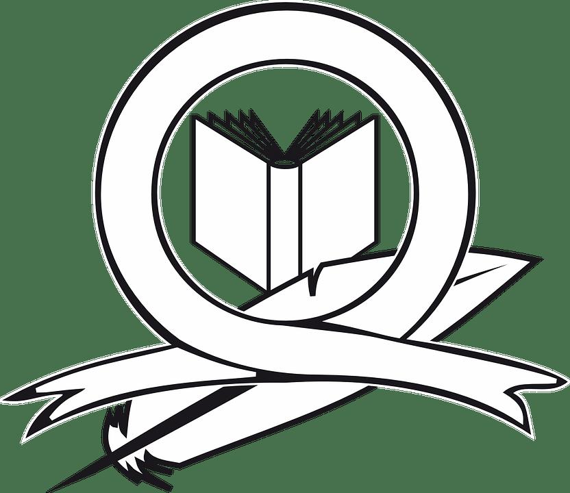 Book Logo Ribbon · Free vector graphic on Pixabay