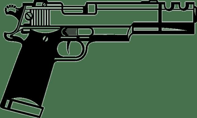 Free vector graphic: Handgun, Beretta, Semiautomatic