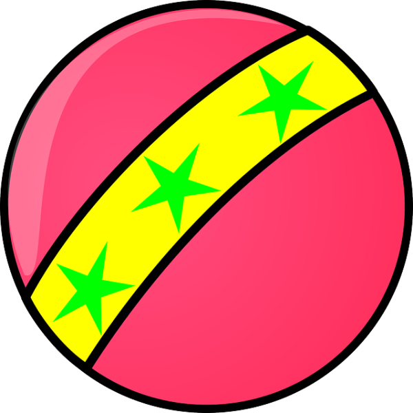 free vector graphic ball red