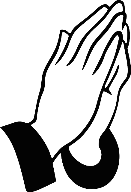 Hands Praying Christian · Free vector graphic on Pixabay