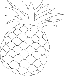 Pineapple Outline Food Free vector graphic on Pixabay