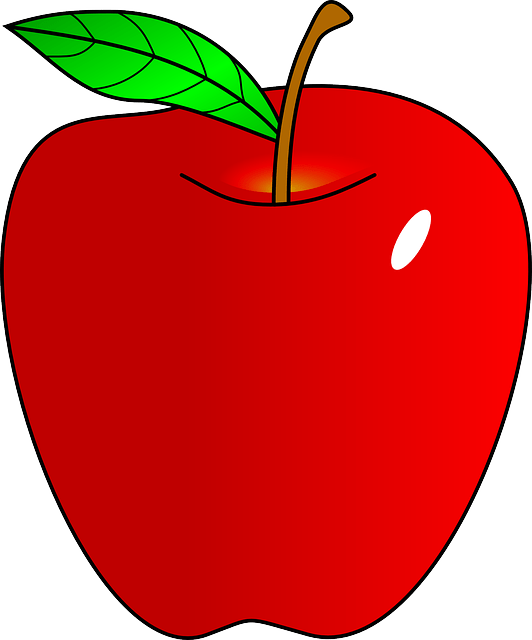 red apple food free vector graphic