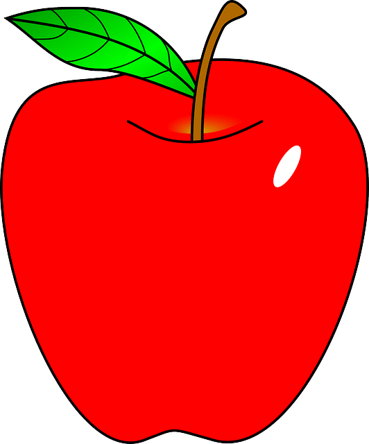 red apple fruit free vector graphic