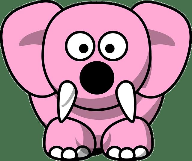 Gambar Animasi Gajah Gif