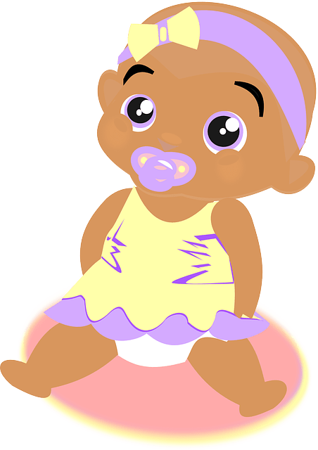 free vector graphic baby girl
