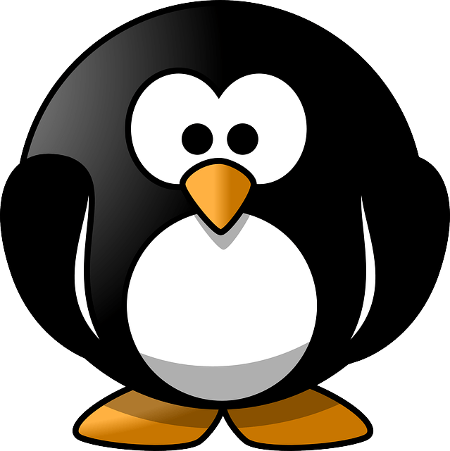 Hd 1080p Christmas Wallpaper Free Vector Graphic Penguin Round Cute Animal Emote