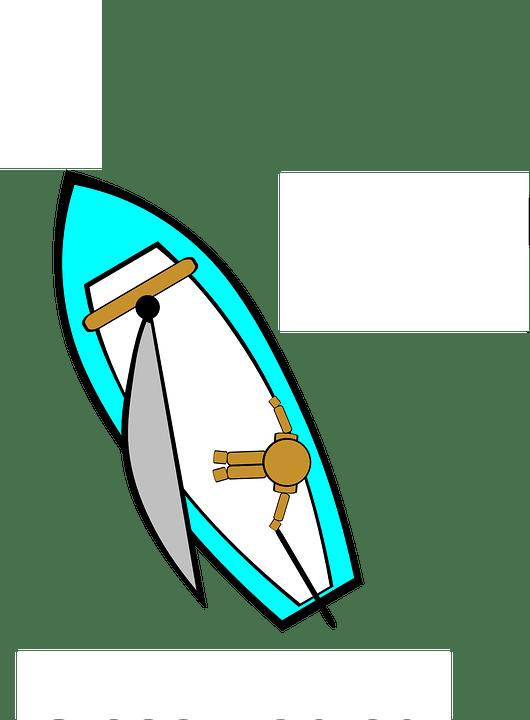 Kostenlose Vektorgrafik Segelboot Ansicht Von Oben