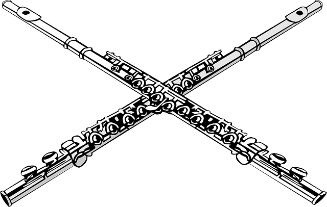 Free vector graphic: Flutes, Crossed, Music, Ensemble