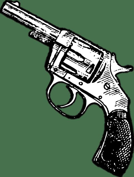 Gun Revolver Pistol · Free vector graphic on Pixabay