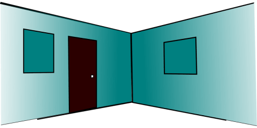 room door empty interior pixabay rooms perspective vector spanish graphic