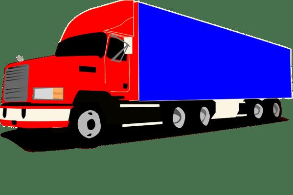 truck wheeler trucker free vector