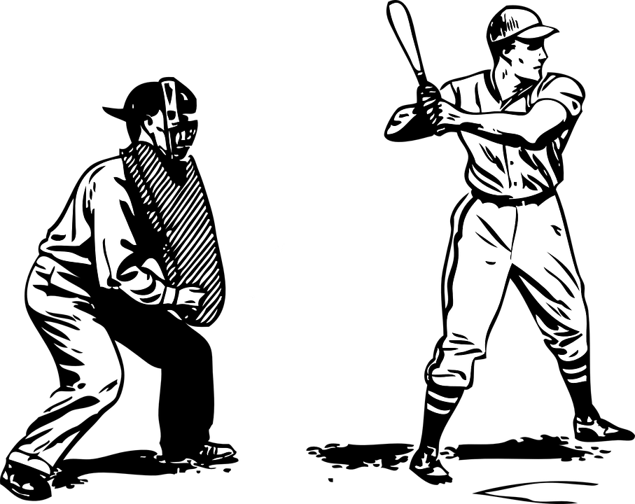 Baseball Batter Umpire · Free vector graphic on Pixabay