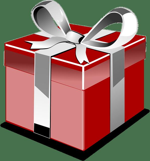 free vector graphic present box