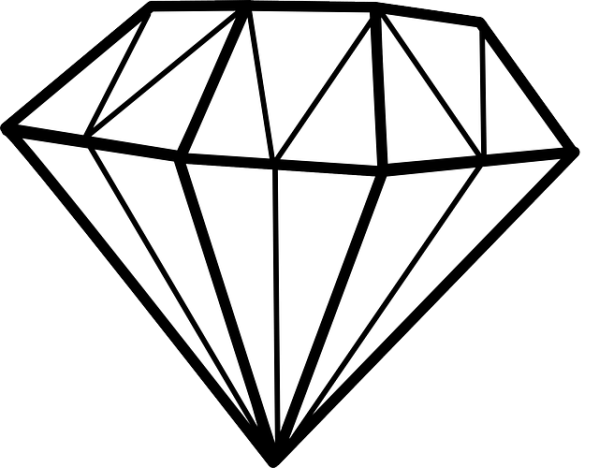 diamond chrystal gem free vector